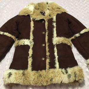 1 Madison Faux Fur Lined Brown Coat